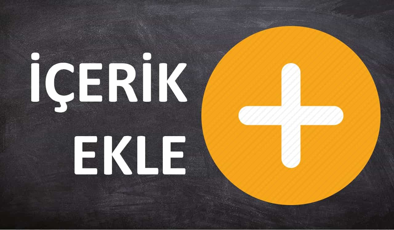 Photo of İÇERİK EKLE!