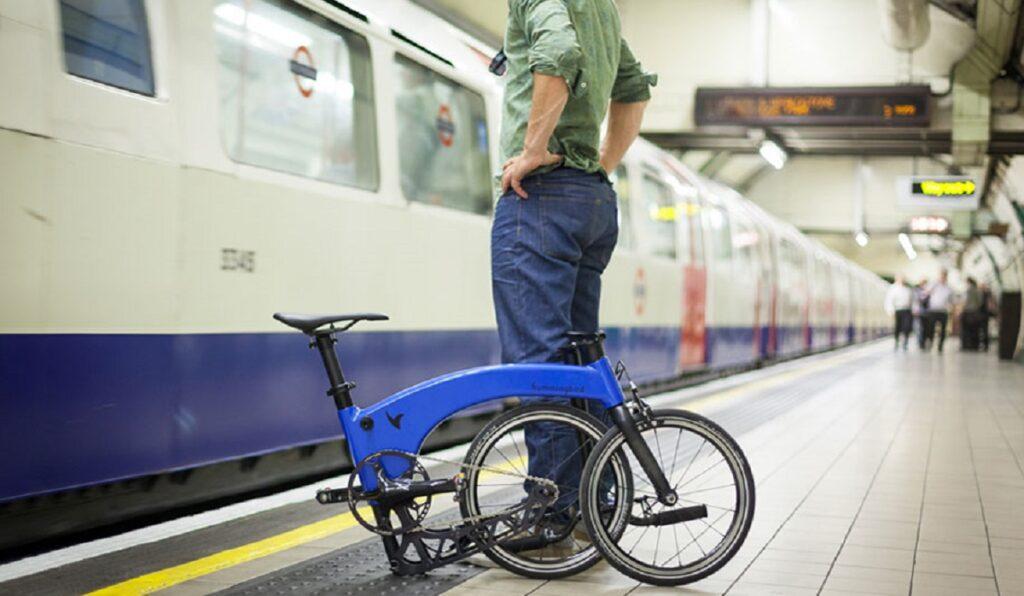 katlanabilir elektrikli bisiklet moblobi